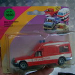1630 SIKU Binz-Ambulance Mercedes 260E feuerwehr 112 unused on card @SOLD@